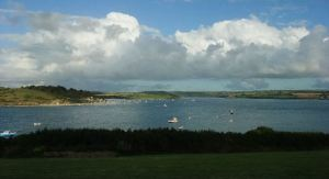 View of Camel Estuary from hillside