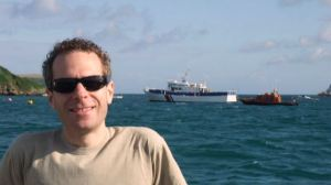 Tim on ferry