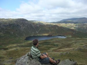 View down to Easedale Tarn