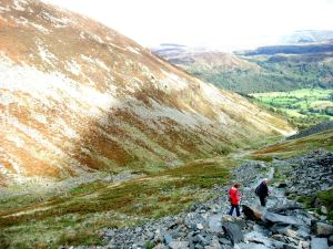 Miners Crag descent