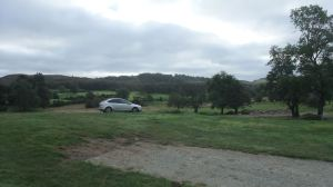 Deserted campsite after zombie attack