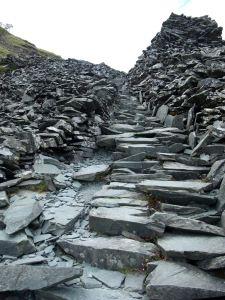 Slate staircase