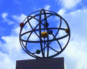 It's an Orrery in honour of Joseph Wright in Iron Gate