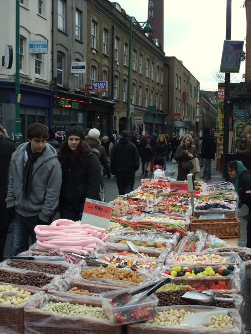 Brick Lane sweet stall