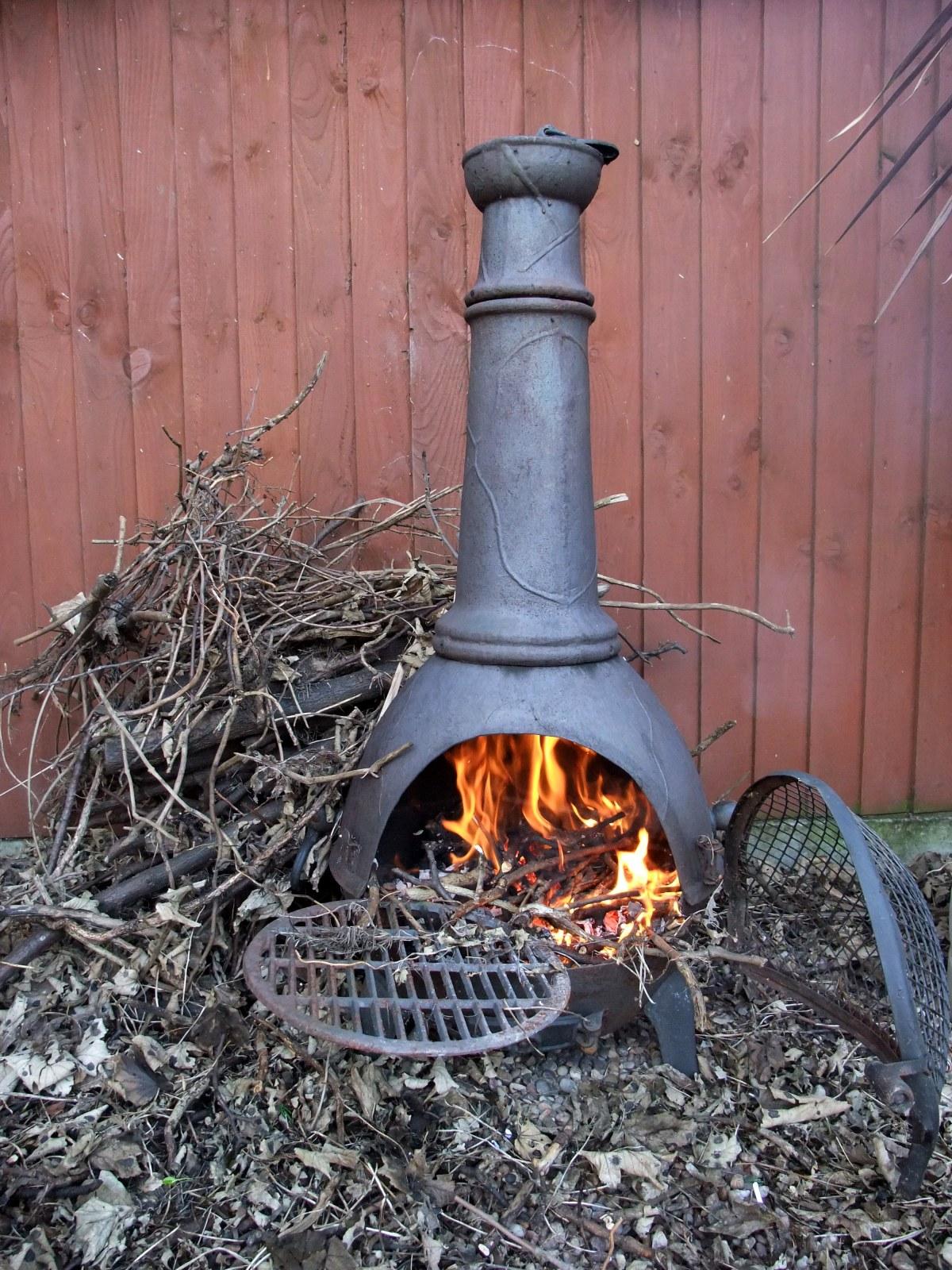 Chimnea ablaze