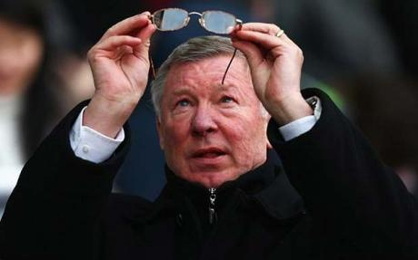 Ferguson jibes at a referee