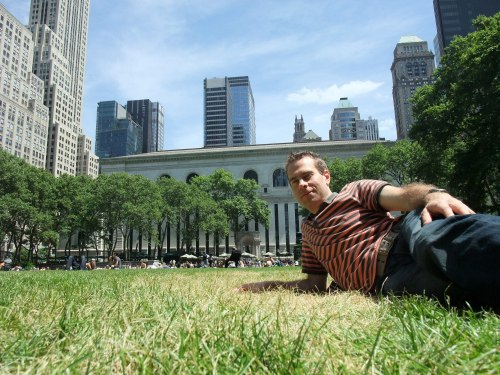 Relaxing in Bryant Park
