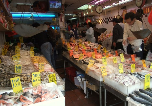Fresh seafood in Chinatown