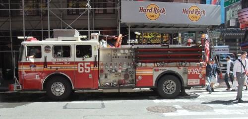 Bomb scare = fire service = glut of donut sales