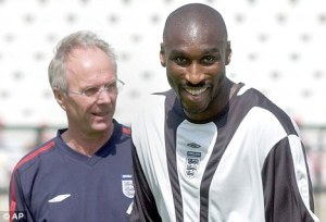 Sven (now Ivory Coast) and Sol (Arsenal)