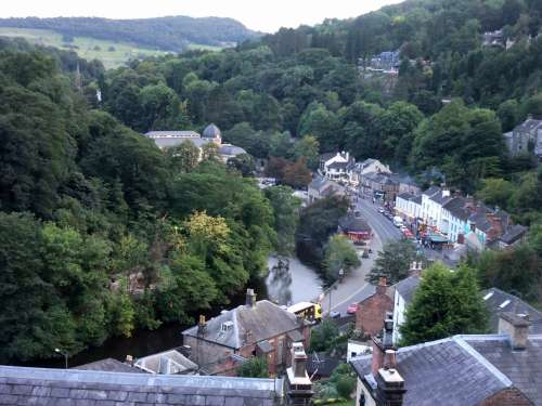 A view over Matlock Bath before the sun sets