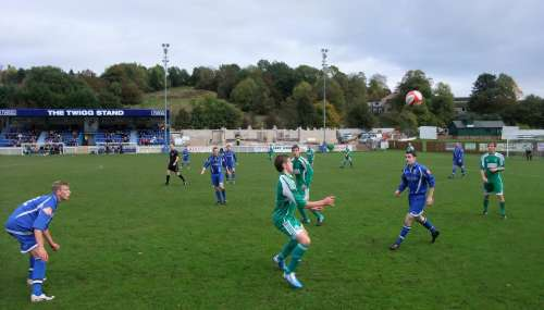 MTFC in the blue vs Bedworth in green