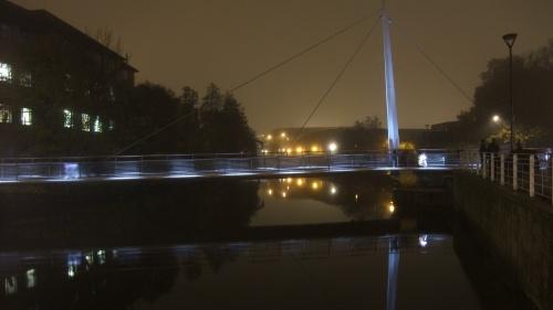 Cathedral Green foot bridge