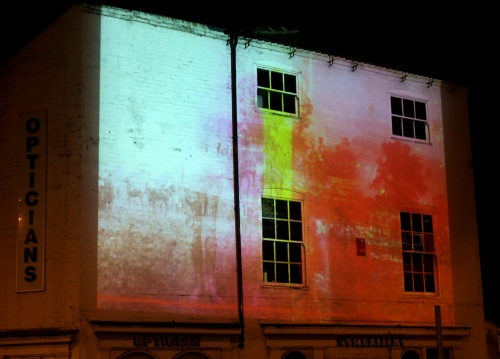Light Trail projection in The Strand