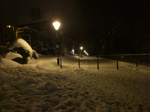 The slippery walk home