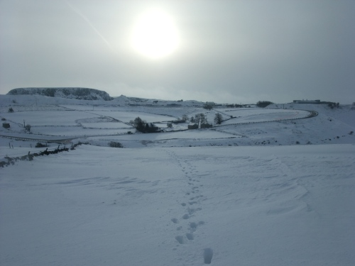 A shivering sun over Stanley Moor