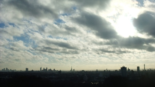 City view from Hampstead Heath
