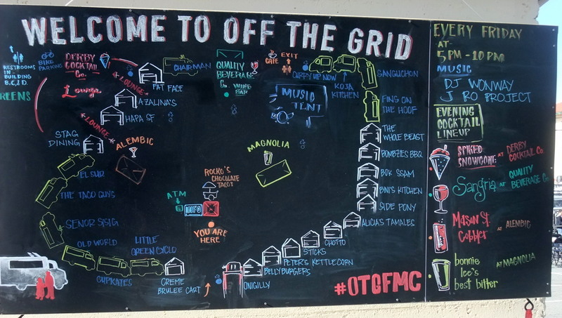 On the menu - Off The Grid