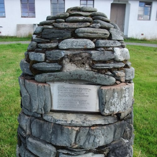 In 1948 near this cairn the Seven Men of Knoydart staked claims to secure a place to live and work