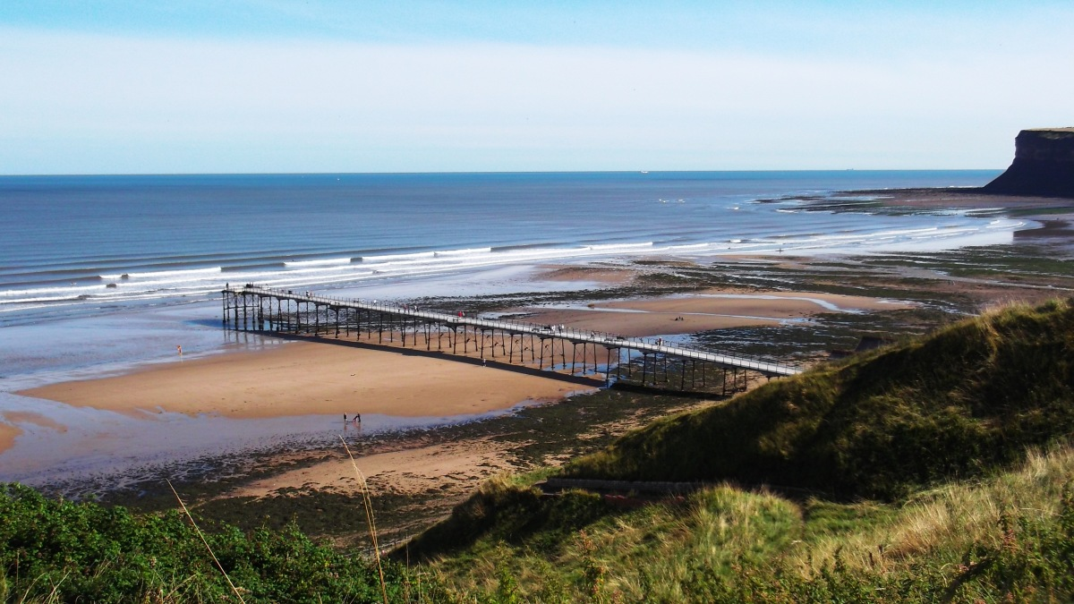 Saltburn Pier near the start of the walk