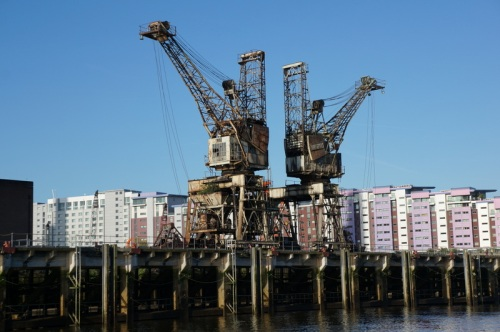 How cranes used to look before the skyscraper boom