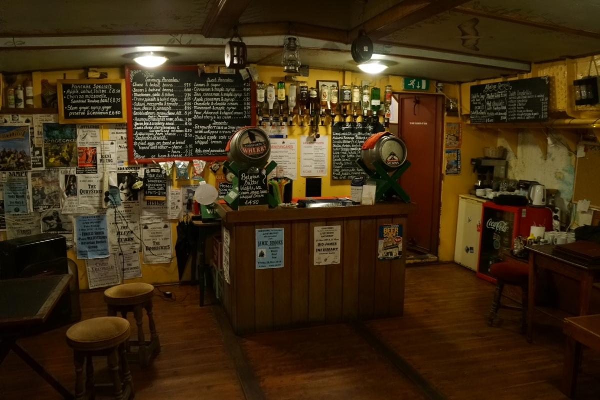 Bar in the cargo hold