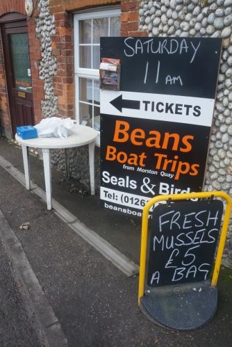 Roadside mussels for sale