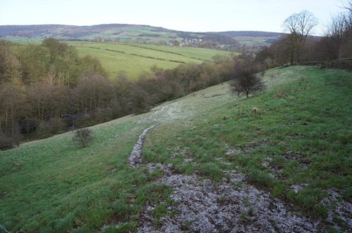 Baslow in the distance