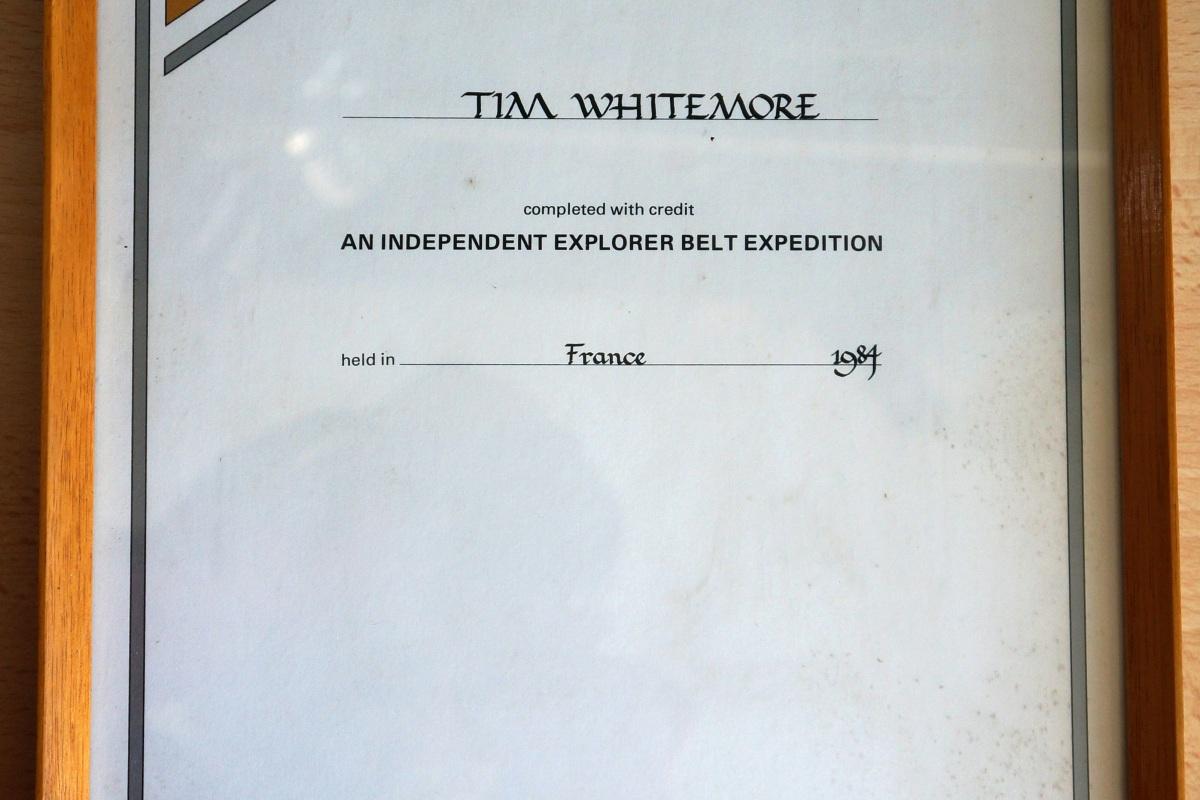 Explorer Belt Certificate