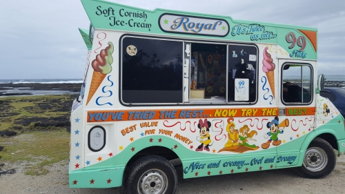 Traditional Mauritian Cornish ice cream van