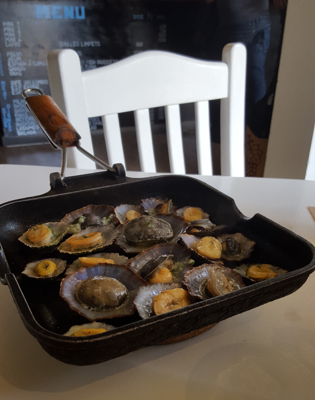 Grilled limpets - simply exquisite