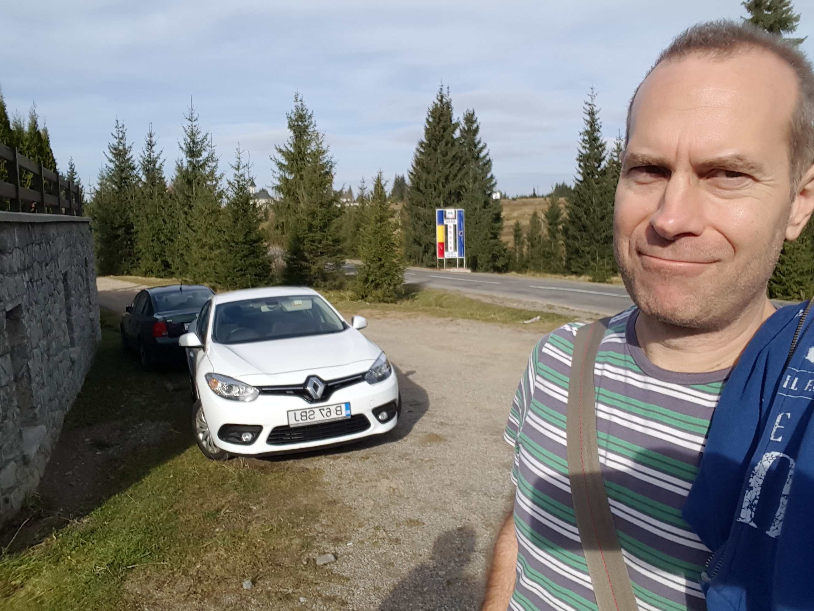Our Renault (E)Fluence hire car - it really stinks
